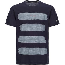 super.natural 140 Graphic Tee Herr blue black/stripes print var1